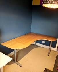 ikea galant office desk. IKEA Galant Beech Corner Office Desk Right W. 2 Extensions Ikea Galant