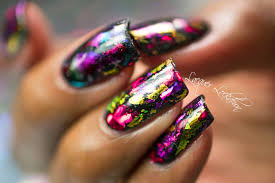 Lacquer Lockdown: Scattered Holographic Foil Nail Art + Tutorial