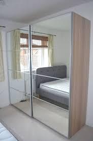wardrobes ikea pax wardrobe white oak effect mirror sliding doors good as new ikea sliding