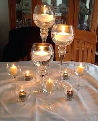 giant wine glass centerpiece attempt at centerpieces wedding black candles decor hobby lobby has these glasses