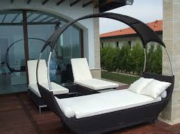 modern outdoor canopy bed furniture and lounge chairs