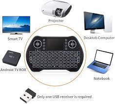 Buy Handheld Mini Keyboard, Wireless Keyboard with Touchpad for Smart TV,Remote  Control,Android TV Box,Laptop,PC,Xbox 360,PS3(RGB Backlit) Online in  Hungary. B07T8NKBNC