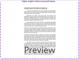 higher english essay examples higher english critical essay techniques college paper service