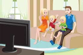 black kids watching tv. watching tv kids watch family clipart people black