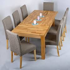 Wonderful Rectangle Solid Wood Dining Table Have 8 Dining Chairs Solid Oak Dining Room Table