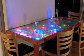 unusual dining room furniture. Unique Dining Room Table Ideas With Colorful Lighting Unusual Furniture U