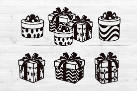 Free christmas vector download in ai, svg, eps and cdr. Gift Boxes Svg Png Dxf Eps Cut Files Graphic By Lightboxgoodman Creative Fabrica