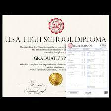 High School Deploma Fake Usa High School Diploma And Transcripts Diplomacompany Com