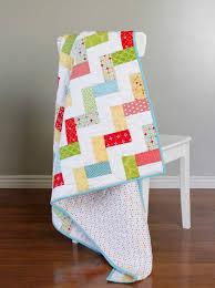 Baby Quilt Patterns Stunning A Bright Corner Stairway Baby Quilt A Free Quilt Pattern