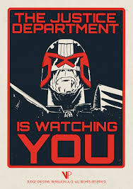 vice press tom whalen matt ferguson limited edition judge dredd  image vice press justice department is watching you matt ferguson png