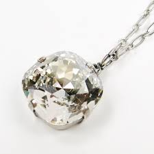 catherine popesco 18 mm large swarovski crystal pendant antique silver necklace in shade product image