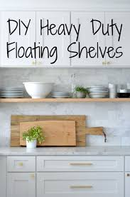 Self Paint Floating Shelves Custom DIY Heavy Duty BracketFree Floating Kitchen Shelves House Updated
