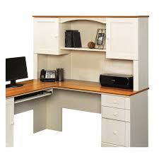 white l shaped desk with hutch. Exellent Hutch Sauder Harbor View Casual LShaped Desk Throughout White L Shaped With Hutch V