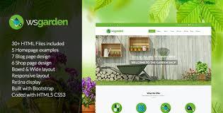 WS Garden Responsive Gardening HTML Template By Wordpressshowcase Best Garden Web Design Design