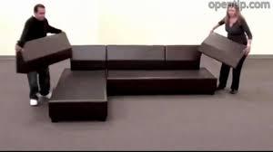Poundex 3pcs Hungtinton Sectional Sofa Set (Ottoman Reversible) from  Opentip.com - YouTube