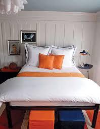 bedroom colors orange. White-orange And Dark Blue Color Scheme For Small Bedroom Design Colors Orange