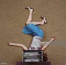 open file cabinet. Woman Lying On Floor Under Open Filing Cabinet Drawer, Overhead View : Stock Photo File