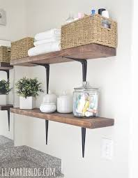 diy rustic bathroom shelves so easy lizmarieblog com