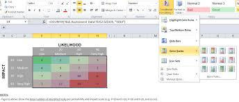 heatmap in excel how to create a risk heatmap in excel part 2 risk management guru