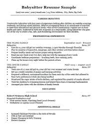 How To Put Babysitting On A Resume Gorgeous Sample Resume Babysitting Experience For Babysitter Download
