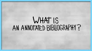 Tips Writing An Annotated Bibliography Libguides At Roger