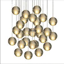 bubble crystal ball led pendant meteor shower crystal light magic ball ceiling lights 7 lights