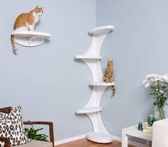 Corner Cat Shelves Modern Cat Tower And Shelf From The Refined Feline 5