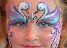 swan face paint