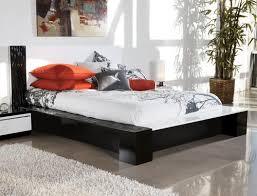 white modern platform bed. Piroska King Metro Modern Black/White Platform Bed White O