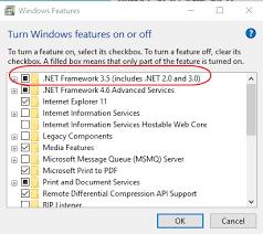 net 3 5 framework windows 10 cannot