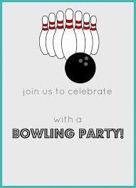 bowling invitation templates free printable bowling birthday party invitation celebrate kid