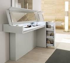Adorable Modern Prestige Dressing Table For Living Space Made From White  Ash Wood Material With Flexible