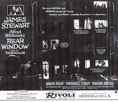 rear window alfred hitchcock acirc twenty four frames ldquorear windowrdquo opened on 1st 1954 at the rivoli theater on broadway in new york city 1 it was a gala benefit premiere for the american korean