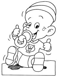 Kleurplaat Grappige Baby Met Speen In De Mond Kleurplaatjecom