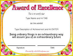 Free Award Certificate Templates For Students Free Award Certificate Templa Award Certificate Text Sample Best Of