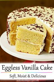 eggless vanilla cake recipe how to