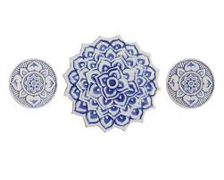 Decorative Tiles For Wall Art Ceramic wall art with ethnic design Mandala wall art Outdoor 32