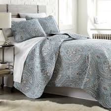 gray paisley bedding. Simple Bedding Pure Melody Lightweight Classic Paisley Quilt And Sham Set For Gray Bedding E