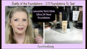 battle of the foundations vol 6 lane teint idole ultra 24 hour makeup