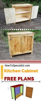 free plans and a step by step tutorial to build a rustic kitchen cabinet this farmhouse cabinet is ideal if you want a quick weekend project