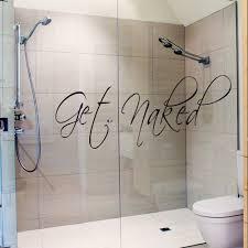 Bathroom Ideas: Bathroom Wall Decals Stickers On Glass Shower Door ...