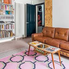 Pink Rugs For Living Room Living Room Colorful Geometrical Pattern On Area Rug For Booster