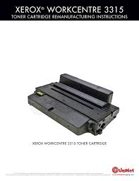 Xerox Workcentre 3315 Toner Cartridge Remanufacturing