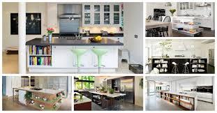 Kitchen Island Open Shelves Open Shelving Kitchen Islands For Better Display Of The Utensils