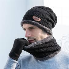 Mens Designer Hat Scarf And Gloves Set 2019 Winter Men Hat Scarf Gloves Set Plus Velvet Thick Knitted Hat Muffler Gloves Ring Scarf Set Solid Outdoor Warm From Weichengz 36 34
