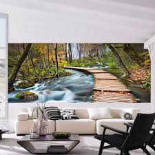 Wall Mural For Living Room Brewster Home Fashions Ideal Decor Path Into The Forest Wall Mural