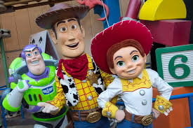 characters from left buzz lightyear sheriff woody and jessie the yodeling cowgirl the trio will interact with guests in the new toy story land set to