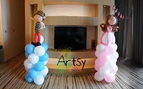 Princess Balloon Decoration Balloon Prince And Princess Columns Decoration Artsyballoons