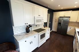 Small Picture White Kitchen with Marble Look Laminate Countertop Akron OH