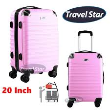 travel star 108 20 inch candy colour hard case luge free pport holder